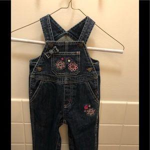 Carhartt little girls Jeans overalls size 9